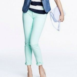 J. Crew Mint Green Jeans Toothpick Ankle
